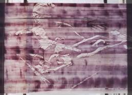 Minamata nº 5 / xilogravura em fita crepe / 120cm x 220cm (aproximadamente) / 2006