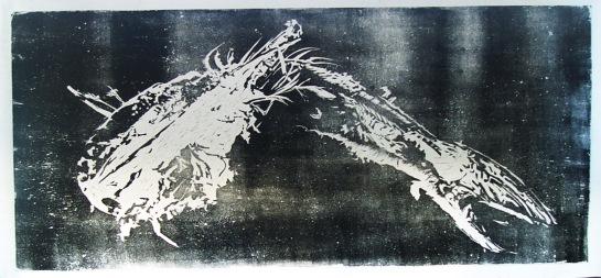 Fossil / xilogravura / 100cm x 200cm ) / 2006